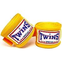 TWINS(ツインズ) バンテージ イエロー 伸縮タイプ 2個1セット ムエイタイ ボクシング MMA 格闘技 グローブ