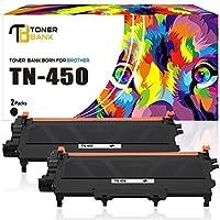 トナーバンク2- Pack交換用トナーカートリッジBrother tn450tn-450tn420for Brother HL - 2240d hl-2270dw hl-2280dw mfc-7360N mfc-7860dwプリンタ(ブラック、高Yield)