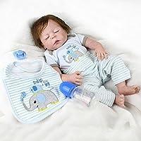 Lifelikeベビー人形新生児少年解剖学的に正しい、フルボディシリコンReborn Sleeping Baby With Eyes Closed