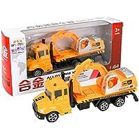 wenasi合金掘削Toy Truck 1 : 64スケールエンジニアリング車両モデルの子供キッズ男の子女の子ギフト