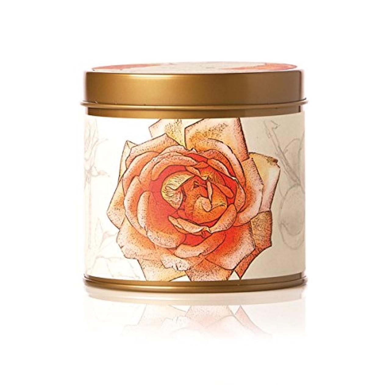 開示する社員販売員ロージーリングス ティンキャンドル アプリコット&ローズ ROSY RINGS Signature Tin Apricot Rose