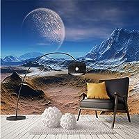 Xbwy カスタム大3D現代星空月自然絵画壁紙アートポスターレストランクラブKtvバー天井L家の装飾-200×140Cm