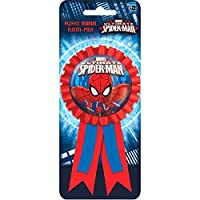 "Spidey-Cool Spider-Man Birthday Party Award Ribbon Accessory,Red/Blue,5 3/4"" X 3 1/8"",Fabric [並行輸入品]"