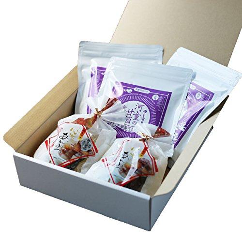 伊豆河童 箱入り 糀甘酒 3袋 あんみつ 2個 セット ノンアルコール・砂糖不使用の甘酒 ギフト向け
