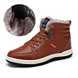 Meteor(メテオ) アウトドアシューズ メンズ 防水 スノーブーツ ウィンターブーツ 防寒 綿靴 滑り止め ブラウン 25.0cm