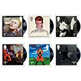 David Bowie Six Album Covers Stamp Set Collectible Postage Stamps Royal Mail 2017 [並行輸入品]