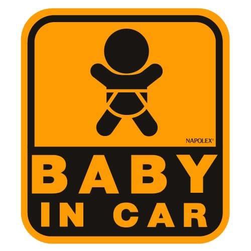 ナポレックス 傷害保険付き BABY IN CAR セーフティーサイン 【マグネットタイプ(外貼り)】 SF-32