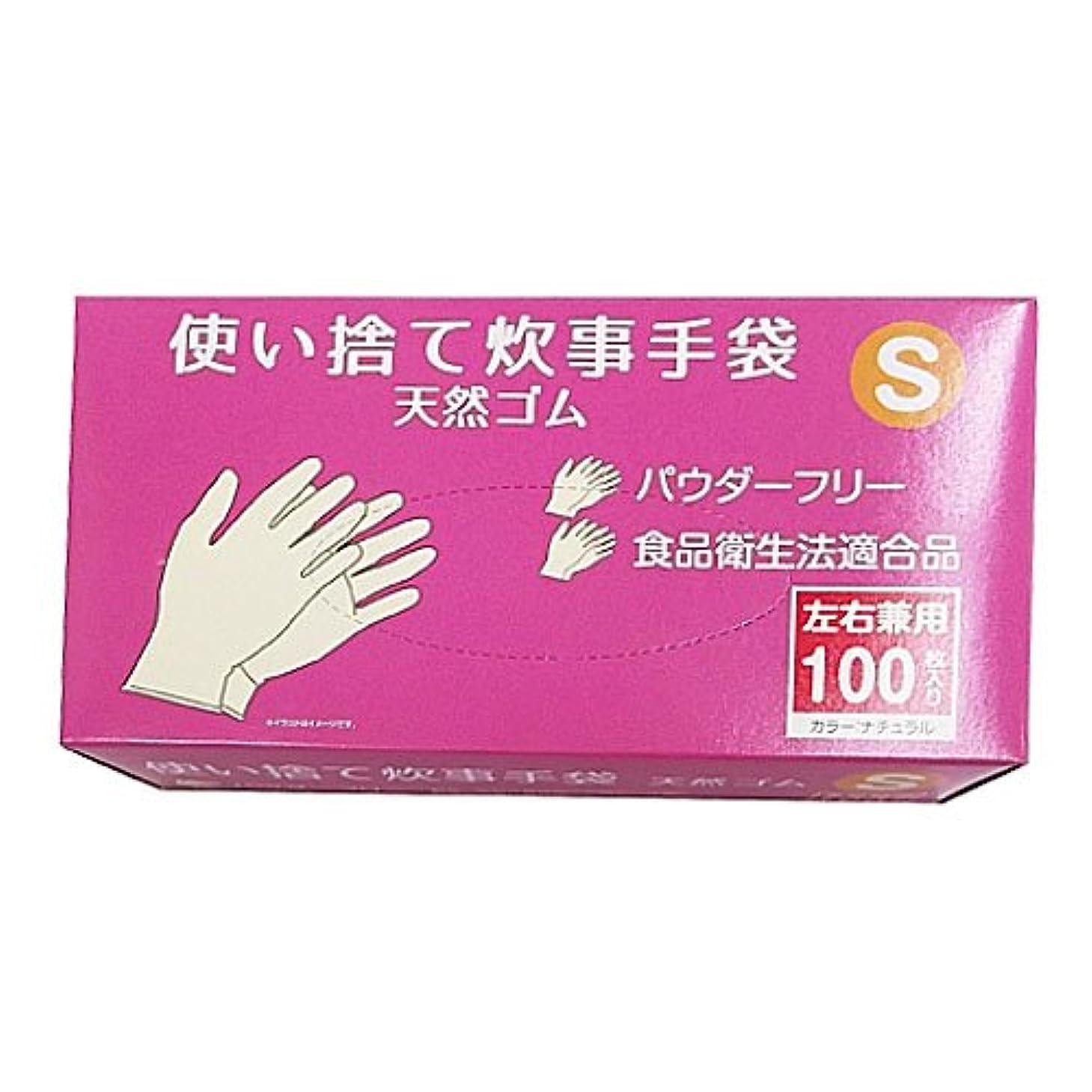 繊毛動かすどちらもコーナンオリジナル 使い捨て 炊事手袋 天然ゴム 100枚入り S