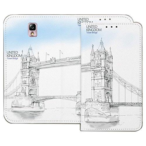 Galaxy S4 / ギャラクシー S4 (SC-04E) 対応 ケース Pen World Flip Wallet スケッチ世界 フリップ ウォーレット ケース スマホ カバー UK / イギリス