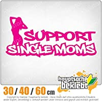 Support Single Moms - 3つのサイズで利用できます 15色 - ネオン+クロム! ステッカービニールオートバイ