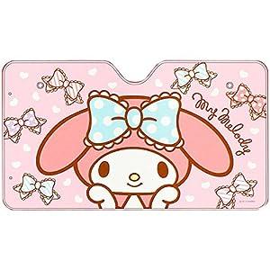 マイメロディ フロントサンシェード リボン ピンク☆カー用品シリーズ