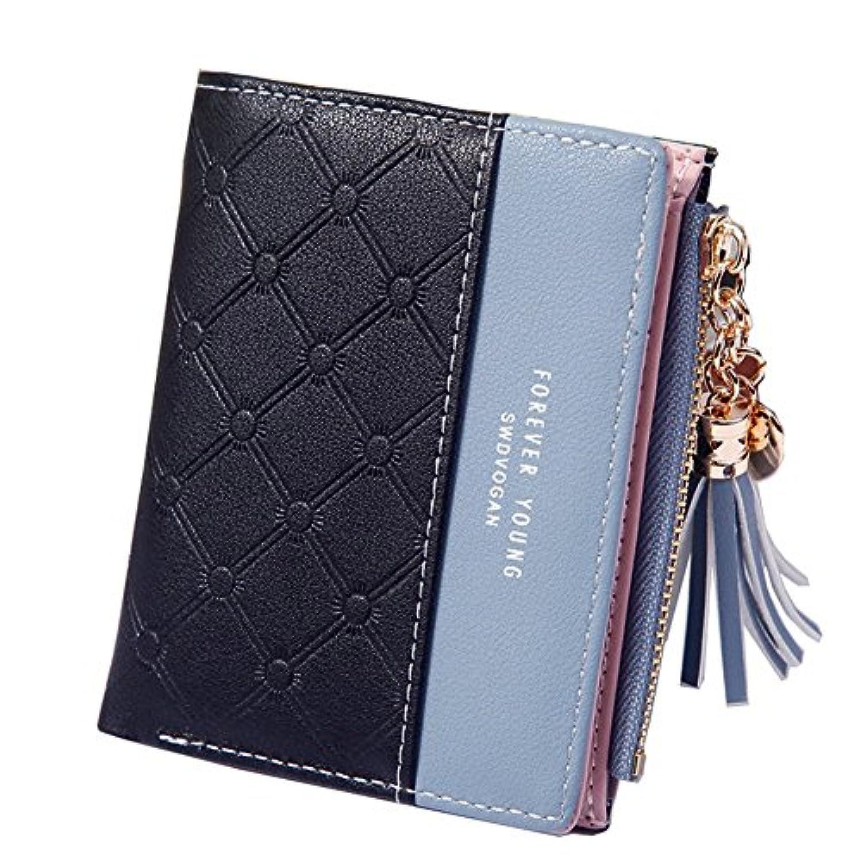 [XMJE]財布 レディース 二つ折り ミニ財布, PUレザー小銭入れ コインケース 人気 かわいい 軽量 スキミング防止 ギフト