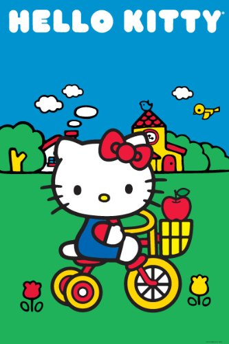 Hello kitty-bikeシーン、漫画ポスター印刷、2...
