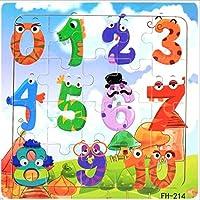 Acecor キッズ 20ピース 木製 動物 フルーツ アルファベット コルセア パターン パズル おもちゃ ジグソーパズル 14.7 x 14.7 x 0.5cm RSVM033946_7*