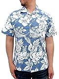 (ルーシャット)ROUSHATTE アロハシャツ 綿裏使い 20color LL ロイヤルブルー