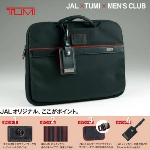 TUMI JAL×TUMI×MEN'S CLUB トゥミ ラップトップ カバー JALオリジナル[JAL機内販売限定]