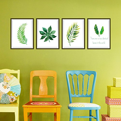 GOUZI Tv Wall Nordic plant photo frame is decorated with the head of the bed corner restaurant tv wall decoration ,50*70CM Removable wall sticker For Bedroom Living Room Background Wall Bathroom Study Barber Shop