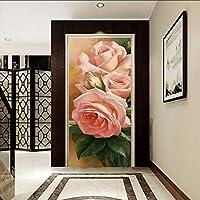 Xbwy カスタム写真の壁紙3Dステレオの壁紙牡丹の花の油絵エントランスの壁紙ロビーのスタジオの廊下の壁画-280X200Cm