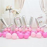 バレンタインデー 風船 パーティー 飾り付け ウェーディング 告白 バルーン 結婚式 LOVE 空気入れ セット お祝い 柱 バルーン (レッド)