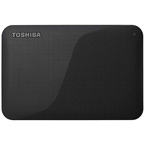 東芝 USB3.0接続 ポータブルハードディスク 1.0TB(ブラック)CANVIO BASICS(HD-ACシリーズ) HD-AC10TK...