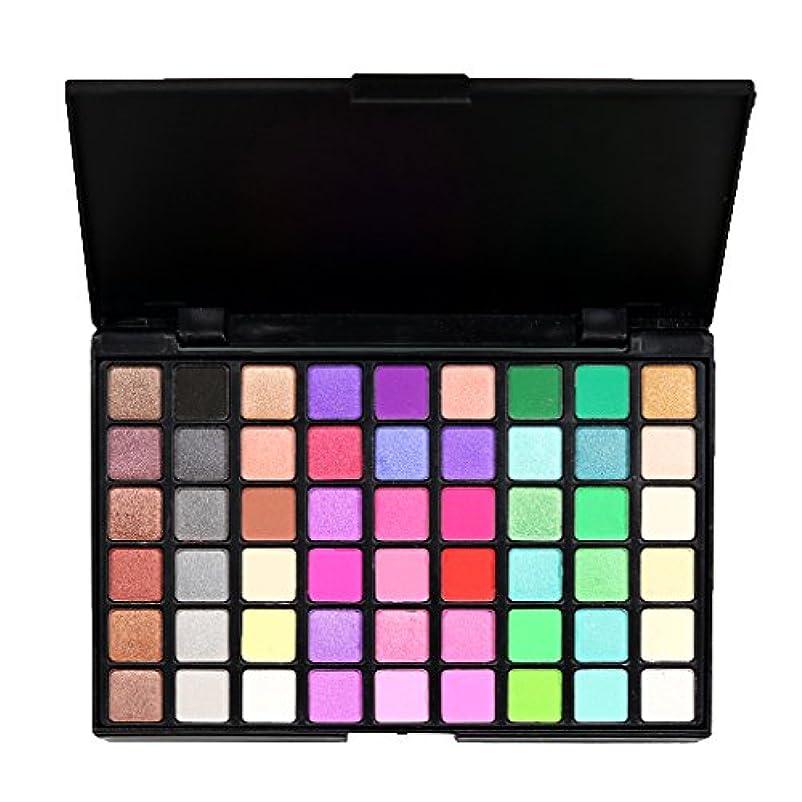 Perfk 54色 化粧品 パウダー アイシャドウ パレット マット シマー 魅力的 全2種類 - #2