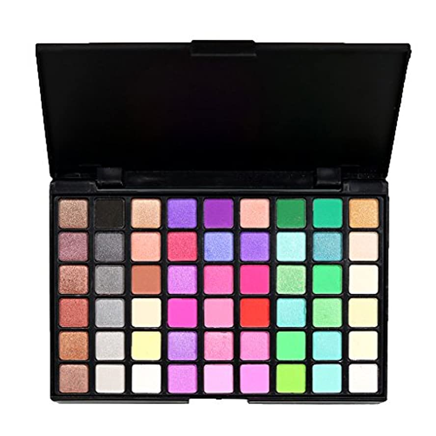 しなやかな時間とともに解く54色 化粧品 パウダー アイシャドウ パレット マット シマー 魅力的 全2種類 - #2