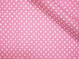 LECIEN (ルシアン) Color Basic 3mm ドット シーチング 生地 綿100% 約110cm巾×1mカット col.P ピンク 4505
