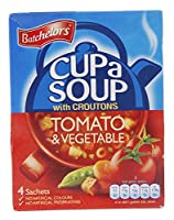 Batchelors Cup a Soup with Croutons Tomato and Vegetable 4 Sachets 104 g (Pack of 9)
