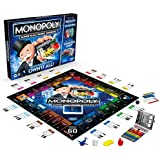 Hasbro Gaming E8978 Monopoly Super Electronic Banking Board Game, Electronic Banking Unit, Choose Your Rewards, Cashless Game