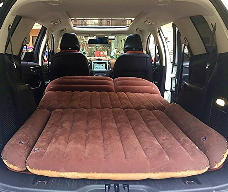 火山学者ポータル古代2色使用SUVカーインフレータブルマットレストラベルエアベッドオフロードモデルバックシートキャンプリアシートマットクッションカーショックベッド