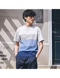 (タケオキクチ) TAKEO KIKUCHI グラデーションパネルボーダーTシャツ[メンズ Tシャツカットソー] 07034021