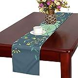 LKCDNG テーブルランナー 美しい花 アニメーション鳥 クロス 食卓カバー 麻綿製 欧米 おしゃれ 16 Inch X 72 Inch (40cm X 182cm) キッチン ダイニング ホーム デコレーション モダン リビング 洗える