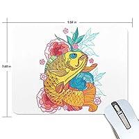 ユキオ(UKIO) マウスパッド おしゃれ 防水 滑り止め かわいい 使いやすい 北欧 鯉 菊 女性 リストレスト マウス PCアクセサリ 男性