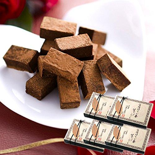 伊藤久右衛門 宇治ほうじ茶生チョコレート 16粒箱入り×5セット まとめ買い