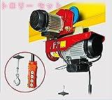 電動ウインチ & トロリー セット電動ウインチ/電動ホイスト 100v 最大1000kg