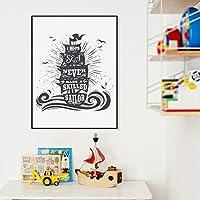 Liwendi 心に強く訴える引用滑らかな海は決して熟練した船員キャンバスアートプリントタイポグラフィポスター絵画家の壁の芸術の装飾50 * 70センチ