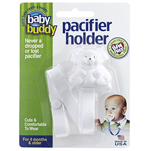 Baby Buddy ベビー バディ Bear Pacifier Holder ホワイトベア マルチ クリップ(シングル) 【アメリカ製】 ...
