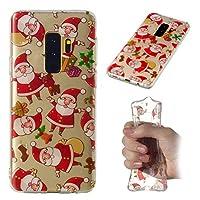 [Mrstar ] シェル Samsung Galaxy S9 Plus ウルトラ スリム 合う 柔らかい ポーチ 肌 シェル バック ケース シェル の Samsung Galaxy S9 Plus (Santa)