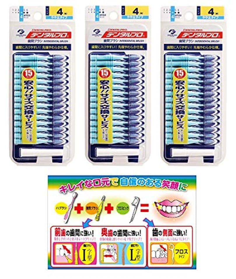 時計回り民間人リー【Amazon.co.jp限定】DP歯間ブラシ15P サイズ4 3P+リーフレット