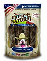 Loving Pet Pure Natural Grain Free Beef Jerky Bars Dogs Chewable Treats 4oz