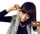 (サラローズ) Sarah Rose超 ロング パール 大粒 真珠 ネックレス ゴージャス 1連 2連 ファッション 小物 アクセサリー 結婚式 パーティ 華やか ボリューム おしゃれ シンプルなドレスにも ピアス 2点セット