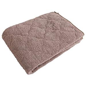 mofua natural 敷きパッド 杢 調 コットン 100% シングル ブラウン 55550106