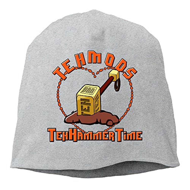 【Dera Princess】 男女兼用 ニット帽 Teh Mod Hammerロゴ コットン ニットキャップ 帽子 オールシーズン 被れる