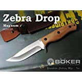 BOKER Magnum/ボーカー マグナム #02SC337 ゼブラ・ドロップ シースナイフ 【日本正規品】