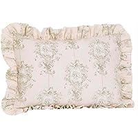 Cotton Tale Designs 100 %コットンピンク、クリーム/オフホワイト、タンフローラルAngelトワールロリポップ& Roses標準フリル付き枕シャム – ガールズ – 枕カバー
