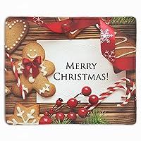 クリスマスクッキージンジャーブレッド マウスパッド 滑り止めゴム底 耐洗い表面 耐久 250X300X3mm