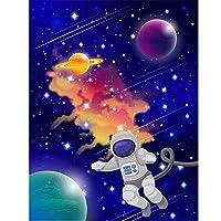 Ansyny 3D壁紙カスタム写真不織壁画壁ステッカー宇宙空スペース宇宙絵画3Dウォールルーム壁画壁紙-130X100CM
