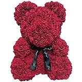 30cm Rose Teddy Bear Flower Bear for Anniversary Birthdays Bridal Valentines Day