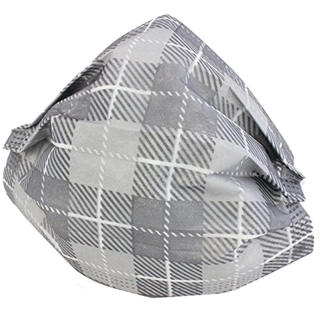 ためらう柱チェスMaskiss/マスキス 衛生マスク『Grey Mask/グレーマスク』(チェック)5枚入り