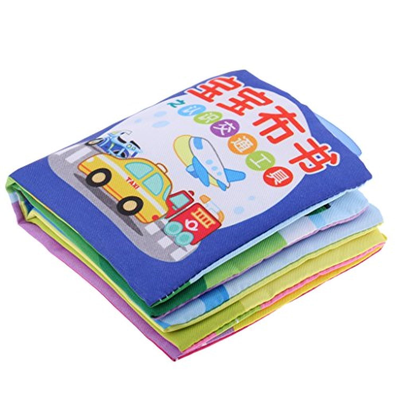 monkeyjack Children Baby Cognizeサウンドブックインテリジェンス開発柔らかい布10ページToys初期学習図形言語トラフィックツール
